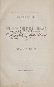 Cover of: Catalogue | Public library New Orleans