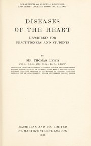 Cover of: Diseases of the heart | Lewis, Thomas Sir
