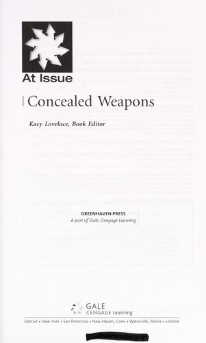 Concealed weapons (2011 edition)   Open Library