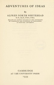 Cover of: Adventures of ideas | Alfred North Whitehead