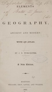 Cover of: Elements of geography | Joseph E. Worcester