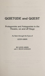 Cover of: Quietude and quest | Leon Askin