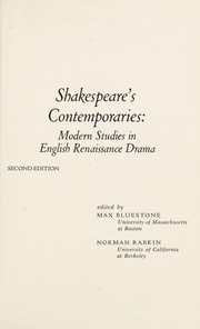 Cover of: Shakespeare's contemporaries