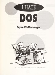 Cover of: I hate DOS