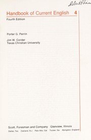 Cover of: Handbook of current English 4 | Perrin, Porter Gale
