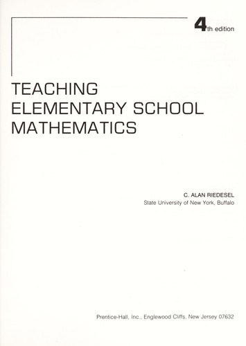 Teaching elementary school mathematics by C. Alan Riedesel