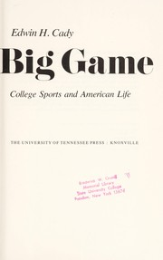 Cover of: The big game
