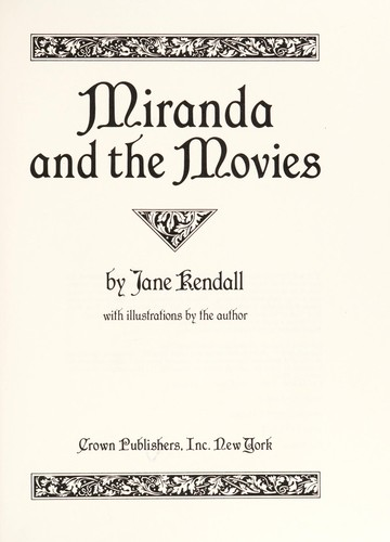 Miranda and the movies by Jane F. Kendall