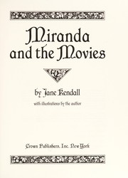Cover of: Miranda and the movies | Jane F. Kendall