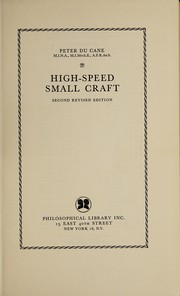 Cover of: High-speed small craft | Peter Du Cane