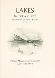 Cover of: Lakes