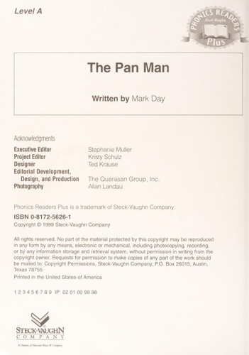 The Pan Man by Steck Vaughan