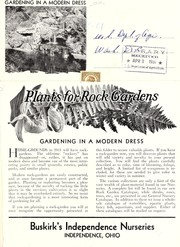 Cover of: Plants for rock gardens