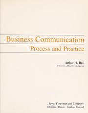 Cover of: Business communication | Arthur H. Bell