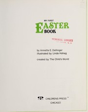 Cover of: My first Easter book | Annetta E. Dellinger