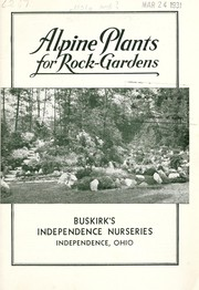 Cover of: Alpine plants for rock-gardens