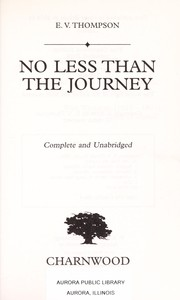 Cover of: No less than the journey