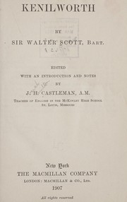 Cover of: Kenilworth | Sir Walter Scott