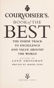 Cover of: Courvoisier's book of the best | Aurora Gunn