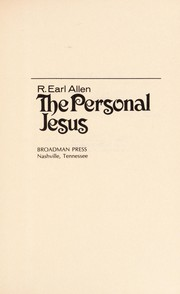 Cover of: The personal Jesus | R. Earl Allen
