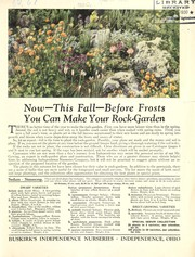 Cover of: Now this fall before frosts, you can make your rock gardens