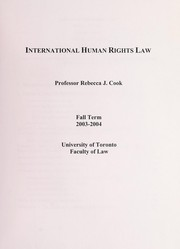 Cover of: International human rights law