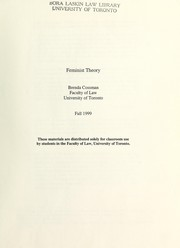 Cover of: Feminist theory