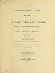 Cover of: Report upon the extinct vertebrata obtained in New Mexico by parties of the expedition of 1874