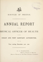Cover of: [Report 1901] | Preston (Lancashire, England). County Borough Council