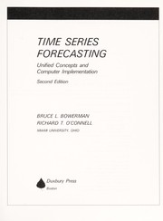 Cover of: Time series and forecasting