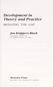 Development in theory and practice by Jan Knippers Black