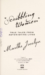 "Cover of: ""Scribbling women"""
