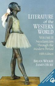 Cover of: Literature of the Western world |