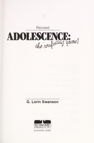 Adolescence by G. Lorin Swanson
