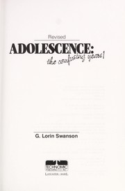 Cover of: Adolescence | G. Lorin Swanson