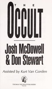 The occult by Josh McDowell