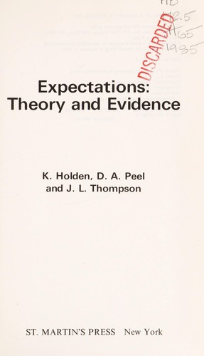 Expectations by K. Holden