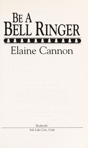 Be a bell ringer by Elaine Cannon