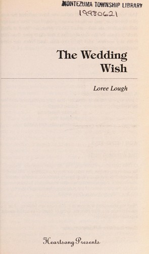 The Wedding Wish (Heartsong Presents #282) by Loree Lough