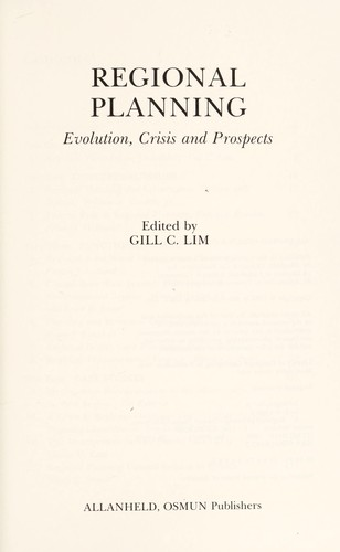 Regional planning by edited by Gill C. Lim.