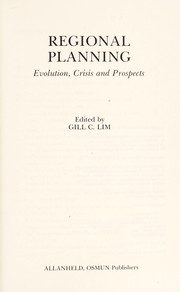 Cover of: Regional planning | edited by Gill C. Lim.