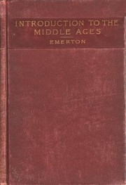 Cover of: An introduction to the study of the middle ages, 375-814 |