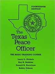 Cover of: The Texas peace officer
