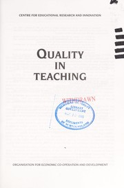 Quality in teaching by