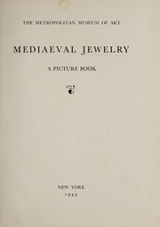 Cover of: Mediaeval jewelry: a picture book.