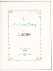 Cover of: A Mother's posy | edited by Celia Haddon.