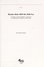 Cover of: Books kids will sit still for | Judy Freeman