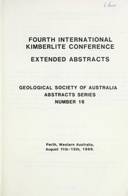 Cover of: Extended abstracts | International Kimberlite Conference (4th 1986 Perth, W.A.)