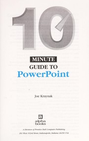 Cover of: 10 minute guide to PowerPoint