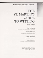 Cover of: Instructor's resource manual, the St. Martin's guide to writing